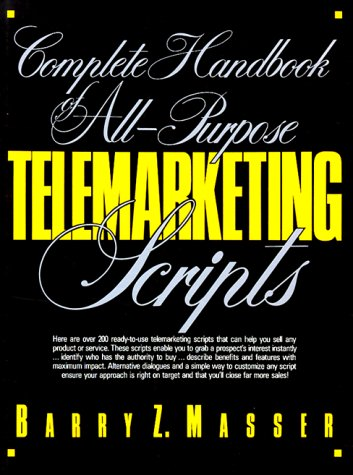 9780131610682: Complete Handbook of All-Purpose Telemarketing Scripts