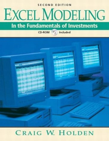 9780131611382: Excel Modeling in the Fundamentals of Investments Book and CD-ROM (2nd Edition)