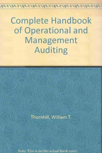 9780131611412: Complete Handbook of Operational and Management Auditing