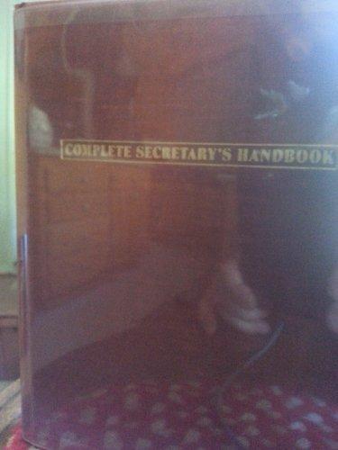 9780131624719: Complete Secretary's Handbook