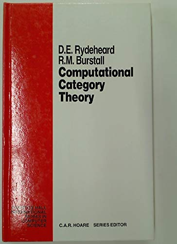 9780131627369: Computational Category Theory (Prentice-Hall International Series in Computer Science)