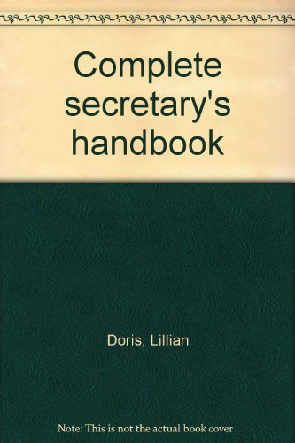 9780131633216: Complete secretary's handbook