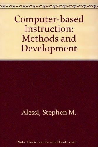 9780131641617: Computer-based Instruction: Methods and Development