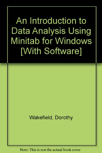 9780131643642: An Introduction to Data Analysis Using Minitab for Windows [With Software]