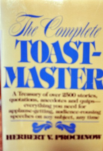 9780131646087: Comprehensive Toastmaster