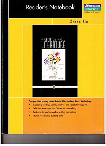 9780131650794: PRENTICE HALL PENGUIN EDITION READER NOTEBOOK GRADE 6