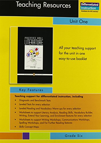 9780131650961: PRENTICE HALL LITERATURE PENGUIN EDITION TEACHING RESOURCES UNIT 1      FICTION AND NONFICTION GRADE 6