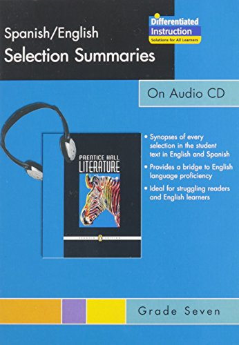 9780131651364: PRENTICE HALL LITERATURE SPANISH ENGLISH SUMMARIES AUDIO CD GRADE 7