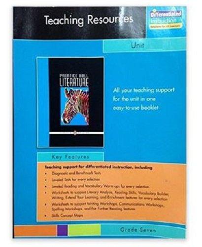 9780131651944: PRENTICE HALL LITERATURE TEACHER RESOURCE UNIT 4 POETRY GRADE 7 2007C