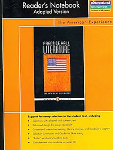 9780131652859: PRENTICE HALL LITERATURE PENGUIN EDITION READERS NOTEBOOK ADAPTED VERSION GRADE 11 2007C