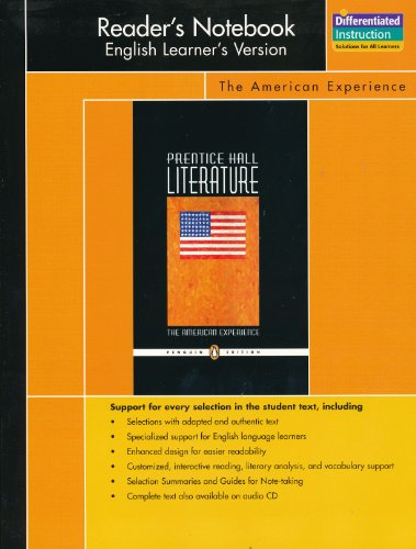 9780131652941: PRENTICE HALL LITERATURE PENGUIN EDITION READERS NOTEBOOK ENGLISH       LEARNERS VERSION GRADE 11 2007C