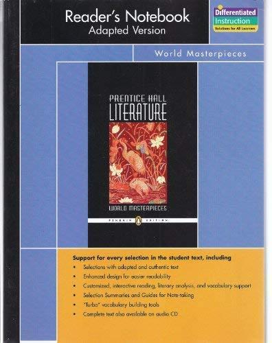 Prentice Hall Literature, Penguin Edition World Masterpieces: Pearson Education