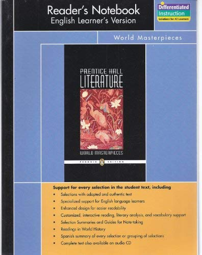 9780131653283: PRENTICE HALL LITERATURE PENGUIN EDITION WORLD MASTERPIECES READERS     NOTEBOOK ENGLISH LEARNERS VERSION GRADE 12 2007C