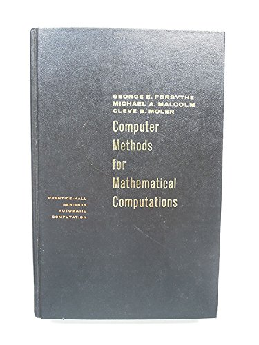 9780131653320: Computer Methods for Mathematical Computations (Prentice-Hall series in automatic computation)