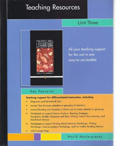 Prentice Hall Literature World Masterpieces Teaching Resources: Pearson Prentice Hall