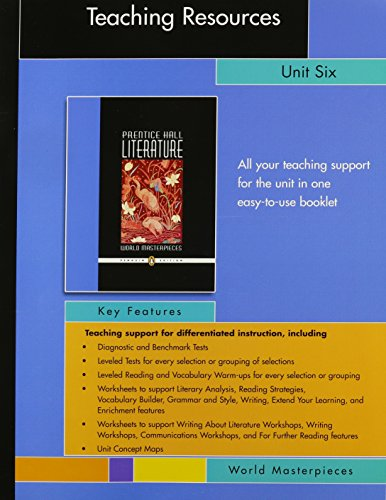 PRENTICE HALL LITERATURE PENGUIN EDITION WORLD MASTERPIECES: HALL, PRENTICE