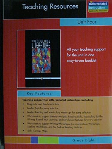 9780131653689: PRENTICE HALL LITERATURE PENGUIN EDITION TEACHING RESOURCES UNIT 4 POETRY GRADE 8 2007C