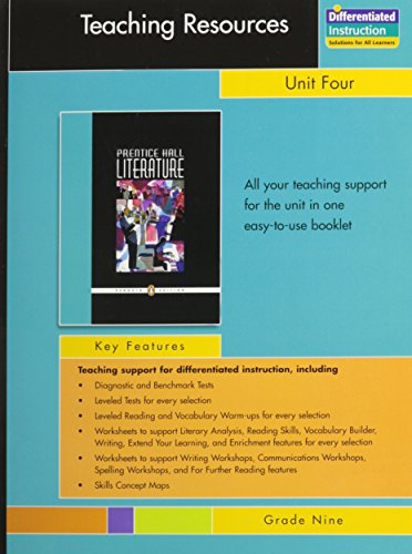 Prentice Hall Literature, Penguin Edition, Teaching Resources,: Prentice Hall