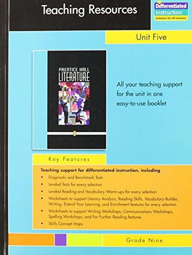 9780131653719: PRENTICE HALL LITERATURE PENGUIN EDITION TEACHERS RESOURCES UNIT 5 DRAMA GRADE 9 2007C