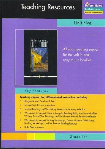 9780131653740: PRENTICE HALL LITERATURE PENGUIN EDITION TEACHERS RESOURCES UNIT 5 DRAMA GRADE 10