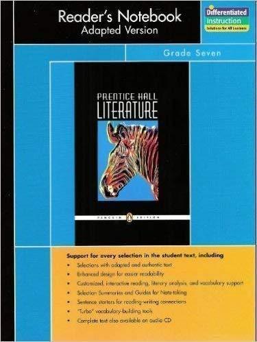 Prentice Hall Literature Penguin: Grade 7: Reader's: Pearson Education