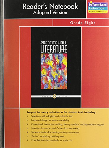 Prentice Hall Literature Reader's Notebook Adapted Version: PRENTICE HALL