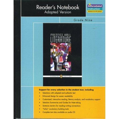 Prentice Hall Literature, Penguin Edition Reader's Notebook: Pearson Education