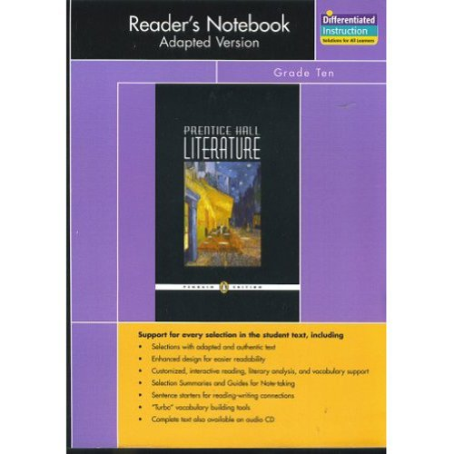 PRENTICE HALL LITERATURE PENGUIN EDITION READERS NOTEBOOK: PRENTICE HALL
