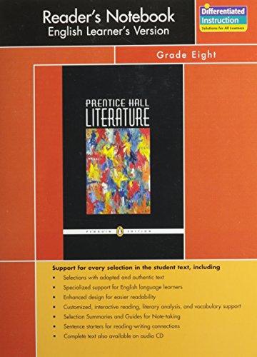 PRENTICE HALL LITERATURE PENGUIN EDITION READERS NOTEBOOK: PRENTICE HALL