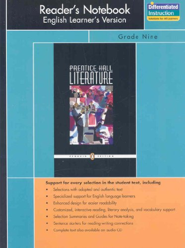 9780131653801: PRENTICE HALL LITERATURE PENGUIN EDITION READERS NOTEBOOK ENGLISH       VERSIOGRADE 9