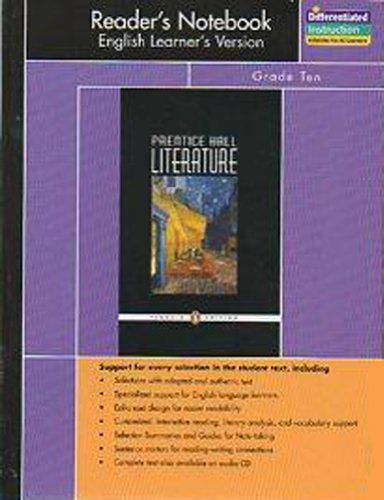 9780131653818: Prentice Hall Literature Reader's Notebook English Learner's Version 10th Grade 10 / Ten