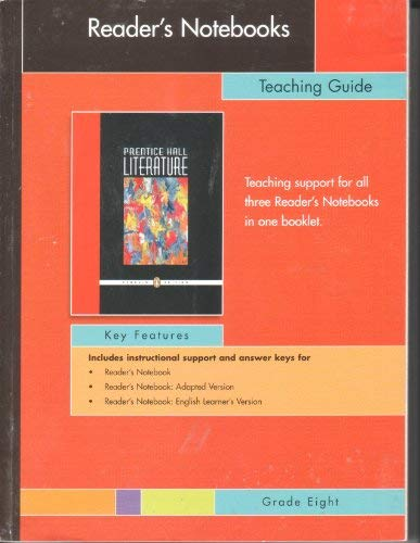 9780131654075: Prentice Hall Literature, Reader's Notebooks Teaching Guide (Grade 8)