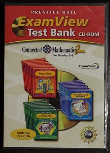 9780131656109: Exam View Test Bank, Grade 6-8 (Connected mathematics 2)
