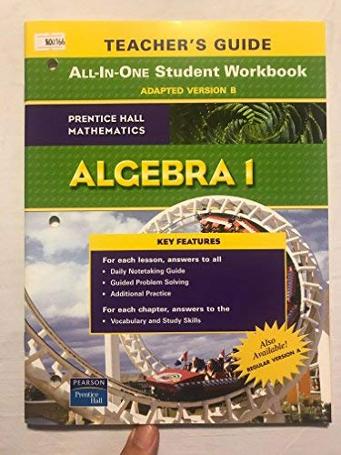 9780131657311: Algebra 1 Teacher's Guide to All-In-One Student Workbook, Adapted Version B