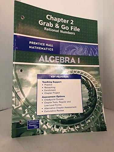 9780131657762: Prentice Hall Mathematics Algebra 1 Chapter 2 Grab & Go file - Rational Numbers