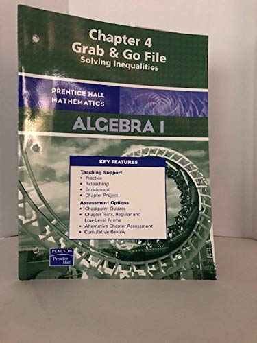 9780131657786: Prentice Hall Algebra 1 Chapter 4 Grab & Go File Solving Inequalities