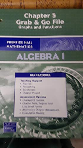 9780131657809: Prentice Hall Math Chapter 5 Grab & Go File Graphs and Functions
