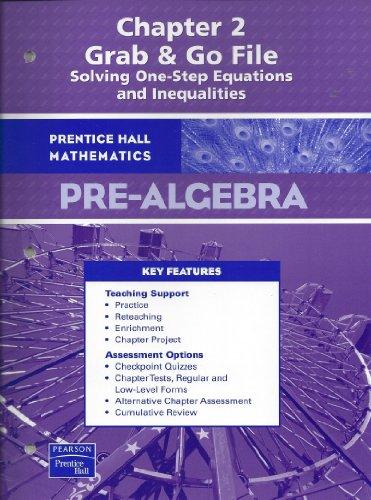 9780131658066: PH Pre-Algebra Chapter 2 Grab & Go File