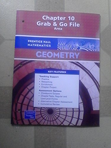 Chapter 10 Grab & Go File, Area, Geometry isbn 013165828X