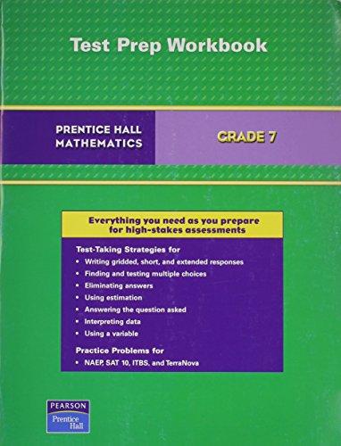 9780131658769: PRENTICE HALL MATH GRADE 7 TEST PREPARATION WORKBOOK 2007