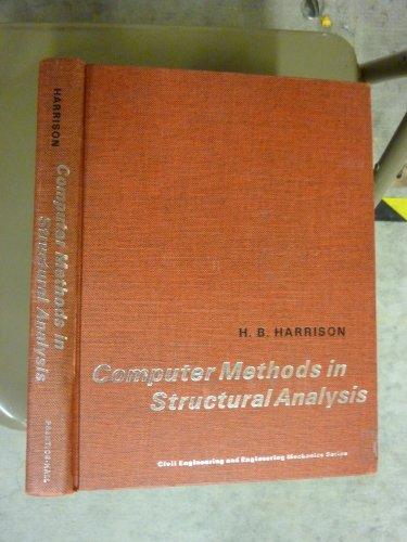 9780131660663: Computer Methods in Structural Analysis (Civil engineering and engineering mechanics series)