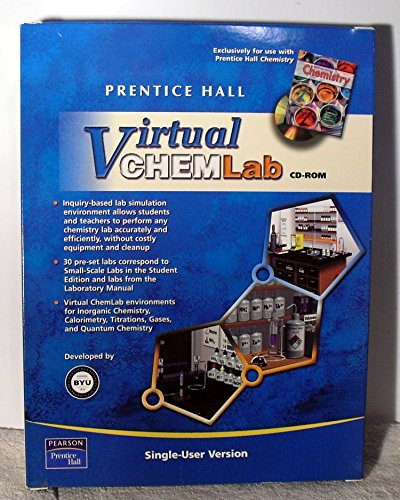 9780131664128: PRENTICE HALL CHEMISTRY VIRTUAL CHEM LAB SINGLE USER LICENSE 2005C