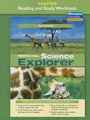 9780131665408: PRENTICE HALL SCIENCE EXPLORER ANIMALS ADAPTED READING AND STUDY        WORKBOOK 2005