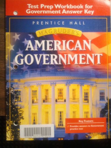 9780131668126: Macgruder's American Government Test Prep Workbook for Government Answer Key