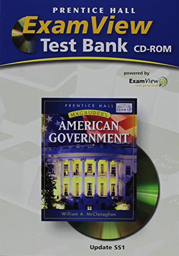 9780131668256: MAGRUDER'S AMERICAN GOVERNMENT EXAMVIEW TEST BANK CD-ROM