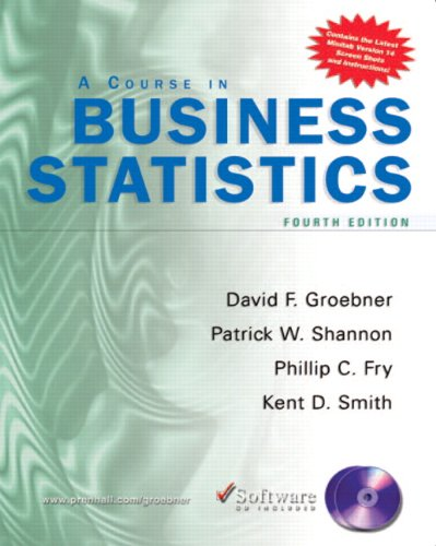 9780131676091: Course in Business Statistics with CD-ROM (4th Edition)