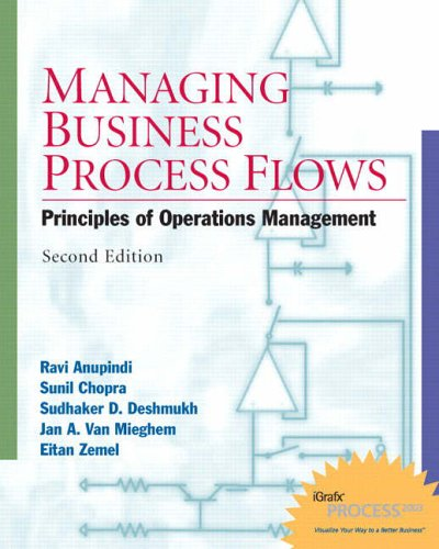 9780131676862: Managing Business Process Flows: W/Student CD: Principles of Operations Management