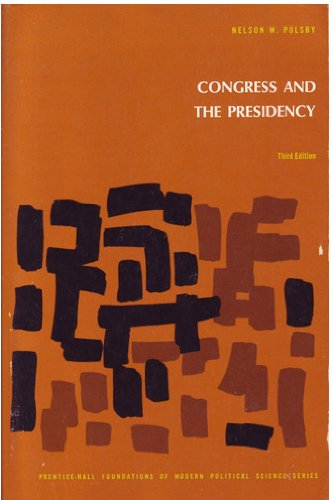 9780131676923: Congress and the Presidency
