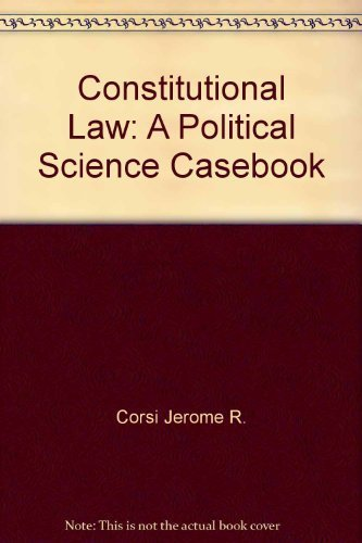 9780131678835: Constitutional law: A political science casebook