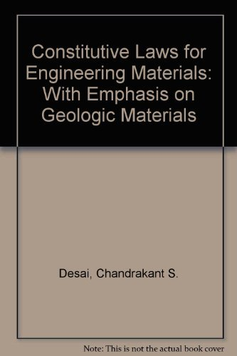9780131679405: Constitutive Laws for Engineering Materials: With Emphasis on Geologic Materials